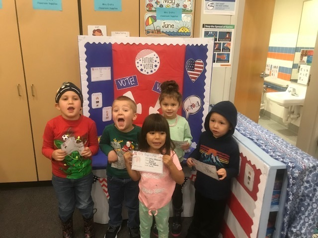 Preschool students ready to vote